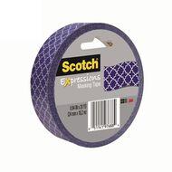 Scotch Masking Craft Tape 25mm x 18m Quatrefoil Blue