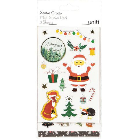 Uniti Santas Grotto Multi-Pack Stickers