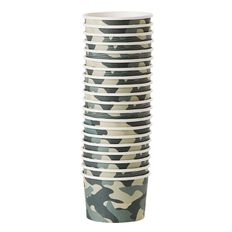 Party Inc Camo Paper Ice Cream Bowls 230ml 20 Pack