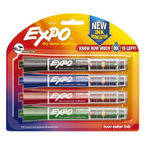 Expo Whiteboard Ink Indicator Marker Chisel Assorted