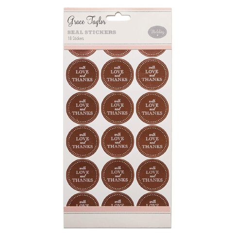 Grace Taylor Wedding Seals 18 Pack Pink