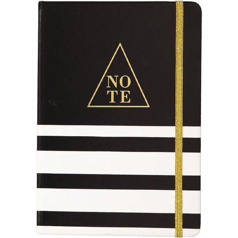 Uniti Black&Gold PU Notebook A5