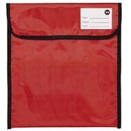 WS Book Bag Zipper Pocket 36cm x 33cm Red