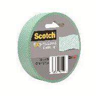 Scotch Masking Craft Tape 25mm x 18m Mosaic Mint