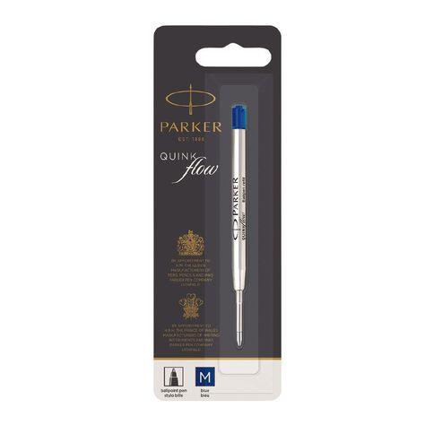 Parker Quinkflow Ballpoint Pen Refill Medium Blue