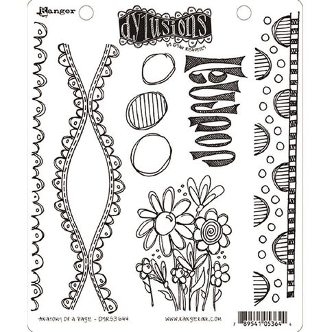 Ranger Dylusions Stamp Anatomy of a Page