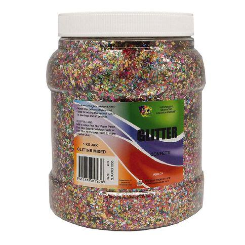 Fivestar Glitter Mixed 1 kg Jar