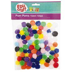 Educraft Pom Poms 15mm 100 Pieces