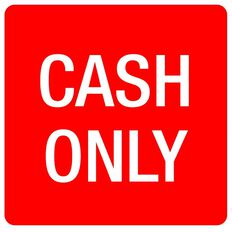 APLI Self Adhesive Cash Only Red