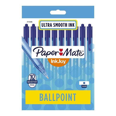 Paper Mate InkJoy 100RT 1.0mm Ballpoint Pen Blue 10 Pack
