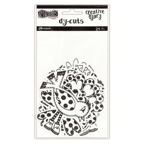 Ranger Dylusions Creative Dyary Die Cuts Birds