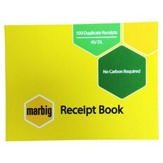Marbig Receipt Book 45 Duplicate 100 Leaf Yellow