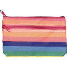 Kookie Rainbow Flat Pencil Case