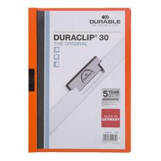 Durable Report Cover 30 Sheet Orange