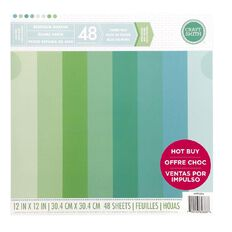 Craft Smith Paper Pad Seafoam Solids 12in x 12in