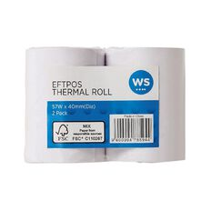 WS Eftpos Roll 57 x 40mm Twin Pack 65gsm