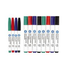 WS Whiteboard Marker Assorted 12pack