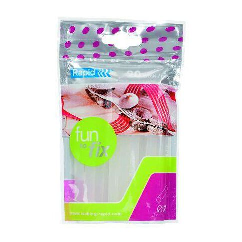 Rapid Glue Gun Sticks 7mm x 100mm 20 Pack Clear