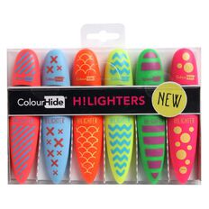 ColourHide Highlighters Quirky Asst 6 Pack Assorted
