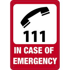 WS In Case of Emergency Sign Small 340mm x 240mm