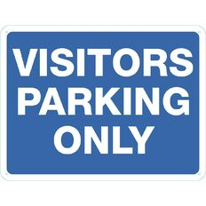 WS Visitor Parking Only Sign Large 450mm x 600mm