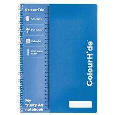 ColourHide Notebook 120 Pages Blue A4