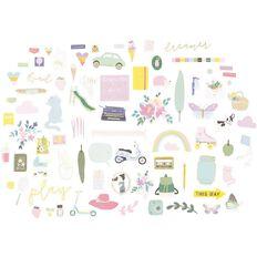Rosie's Studio Chasing Butterflies Cardstock Diecuts 164 Pack