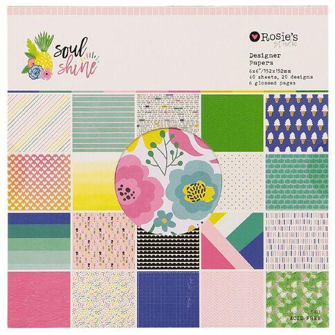 Rosie's Studio Soulshine Paper Pad 6in x 6in 40 Sheet