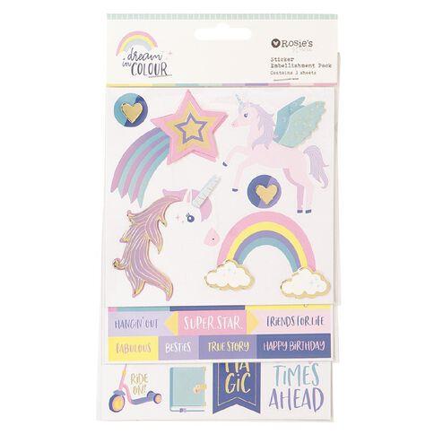 Rosie's Studio Dream In Colour Layered Sticker Pack