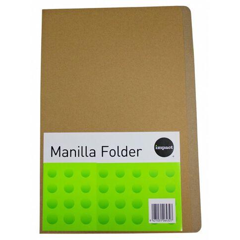Impact Manilla Folders 100 Pack Kraft A4