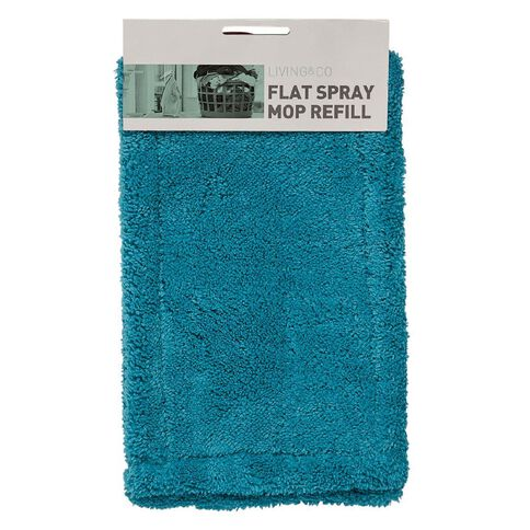 Living & Co Flat Spray Mop Refill Blue