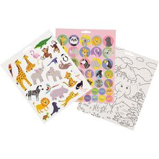 Kookie Sticker Activity Pad Who's At The Zoo