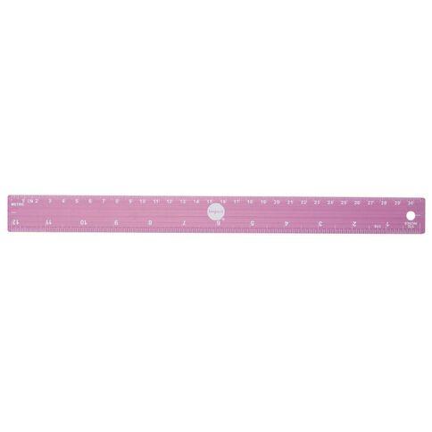 Impact Ruler Aluminum Pink/Purple 30cm