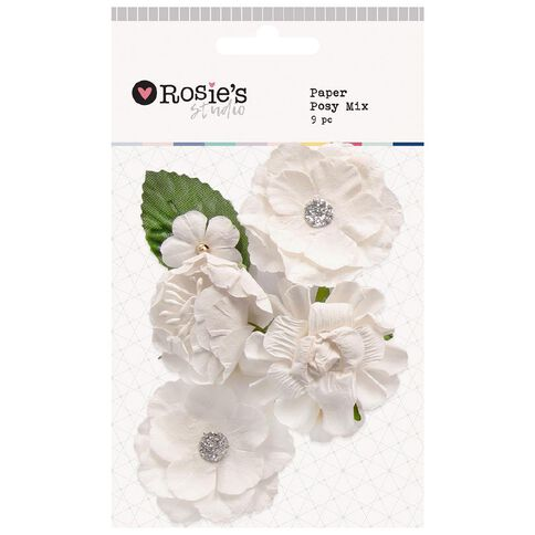 Rosie's Studio Paper Posy Mix 9 Piece Assorted