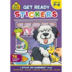 School Zone: Get Ready Sticker Books Get Ready