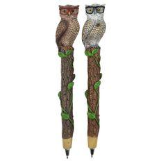 Novelty Pen Owls Glasses Assorted