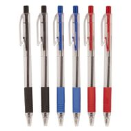 WS Ball Pens Sprint Grip 6 Pack Assorted