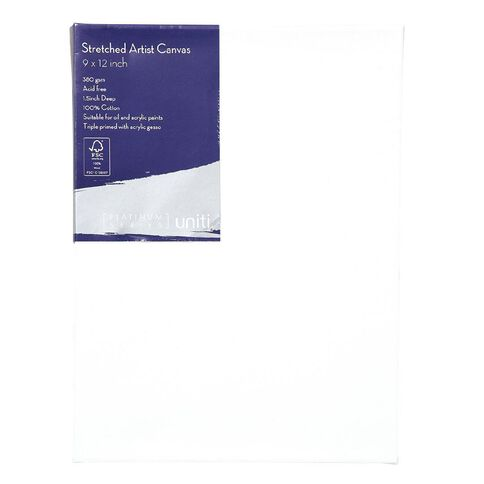 Uniti Platinum Canvas 9x12 Inches 380Gsm