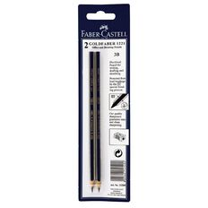 Faber-Castell Pencil Goldfaber 3B 2 Pack Black