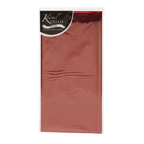 Cellophane 500mm x 700mm 2 Pack Red