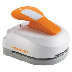 Fiskars Tag Maker Punch Simple White