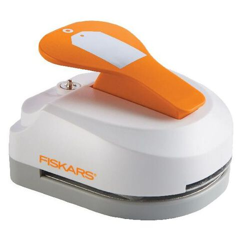 Fiskars Tag Maker Punch Simple White