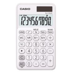 Casio SL310UCWE Hand Held 10 Digit Calculator White