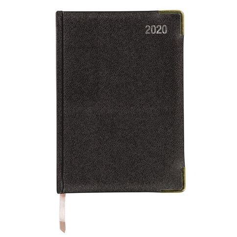 Impact Diary 2020 Day To Page Leatherette Black A5