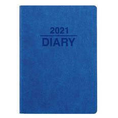 Dats Diary 2021 Week To View Soft PU Cover Blue Beige & Grey A6