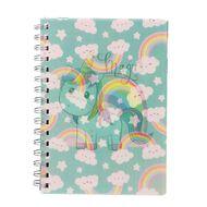 Kookie Novelty20 Lenticular Unicorn Notebook Pink A5