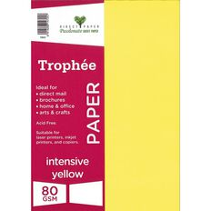 Trophee Paper A4 80Gsm 500Pk Intensive Yellow
