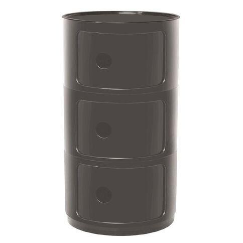Workspace Retro 3 Tier Storage Unit Black