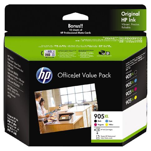 HP Ink 905XL Office Value Pack Inkjet Matte Cards