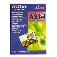 Brother A3 Photo Paper Matte BP60MA3 25 Pack